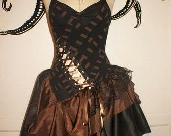 Steampunk Dress - Steampunk Whimsical Merlot Dress