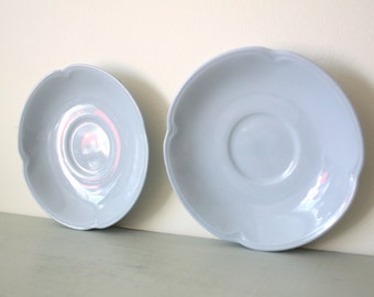 Vintage Johnson Brothers Greydawn Tea Saucers in Powder Blue