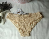 Crocus panties - Nude french lace and cotton undies, panties comfortable yet sexy