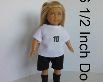Clothes for Mini American Girl doll, Mini American Girl Clothes, Soccer Uniform for Mini American Girl, Clothes for Our Generation Mini Doll