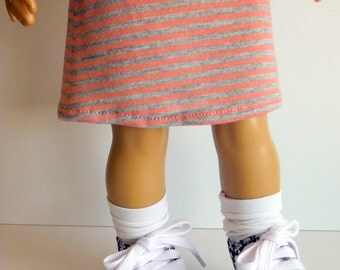 18 inch Doll Clothes fits American Girl; Knit Skirt; Knit Skirt for 18 inch dolls; 18 inch doll clothes; Sneakers for 18 inch dolls
