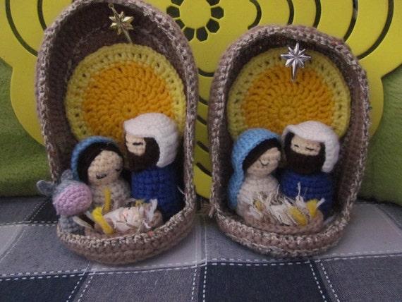 Presepe Amigurumi Etsy : Nativity set Christmas Nativity Set Handmade Crochet gift
