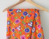 Vintage RETRO 1970s FABRIC...vintage supplies. retro supply. retro. sewing. crafts. floral. mod. retro. vintage fabric. disco. neon. atomic