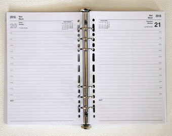 2016 Agenda Refill for ring binder planners A5