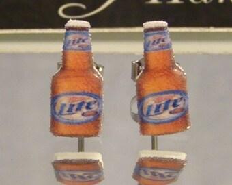 Beer Bottle Stud Earrings - Bartender jewelry