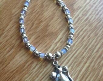 Rat Charm Bracelet Opalite