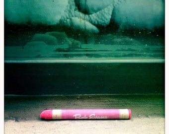 Abstract Tableau Pink Crayon Found Ledge Street Art Photograph Print