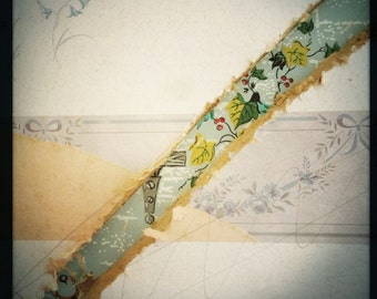Reveal Tacky Wallpaper Collage Torn Ripped Art Photograph Print