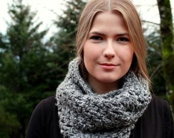 Crochet PDF Pattern: Chunky cowl, infinite infinity scarf, hood