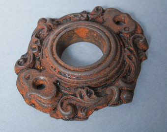 Antique iron hole escutcheon, plate, finding