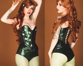 "M Poison IVY- 25"" Overbust Corset and High-Waisted underwear from Artifice Clothing (CLEARANCE)"