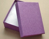 10 High Quality Matte Purple Cotton Filled Jewelry Boxes 3 1/8 x 2 1/4 x 1 inch - Medium