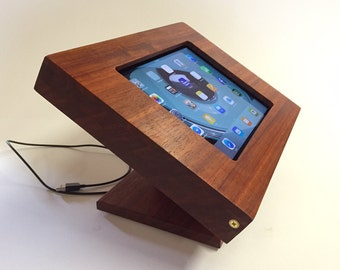 iPad Kiosk / Case / Stand - Padauk Wood