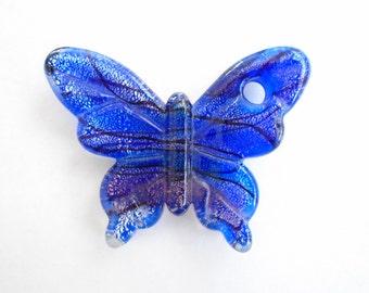 Glass Lampwork Butterfly Pendant, Lampwork Butterfly Pendant, Glass Butterfly Pendant