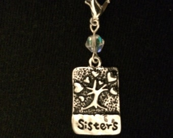 Sisters charm pendant or zipper pull