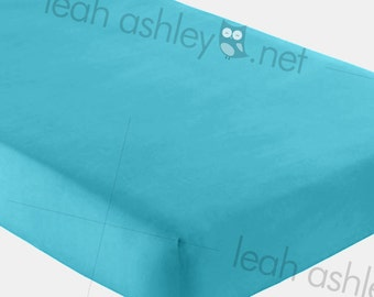 Fitted Crib Sheet - Solid Turquoise - fcs