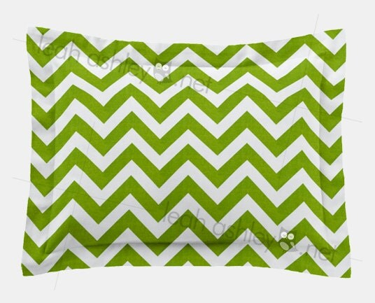 Rectangle Pillow Cover Lime Green Chevron R1 By Leahashleyokc