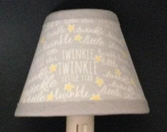 Twinkle Twinkle Little Star Fabric Nursery Nightlight/Baby Gift