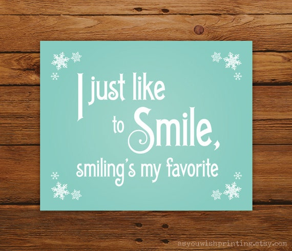 Smiling's My Favorite Christmas  8 x 10 Print - Elf Movie Quote