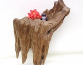 Small Cypress Wall Shelf / Dirftwood Wall Decor / Drift Wood Hanging Sculpture