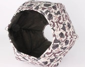 Cat bed made in woodlands wild animals fabric - the Cat Ball