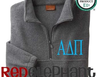 Alpha Delta Pi Sorority Pullover Jacket, Monogrammed Sorority Jacket, Monogrammed Zip Jacket, Monogrammed Jacket, Fleece, UNISEX, Licensed