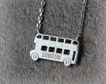London Double decker Bus Necklace / double-deckers necklace, london bus