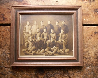 Vintage Framed Football Team Photo - -Champions in 1908 -  Great Guy Gift