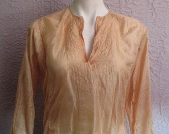 60's/70's Vintage Tissue Silk India Hippie Top Blouse unworn small/medium