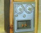 Post Office Door Bank No 94 - Double Dial - Circa 1950 - Barn Wood