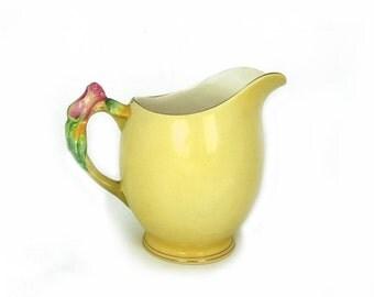 ON SALE Antique Royal Winton Milk Jug Yellow Rosebud, Grimwades porcelain rosebud pitcher