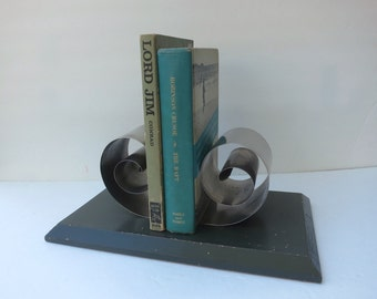 Vintage Spring Tite Book Holder Coiled Chrome Bookends Better Living Industries