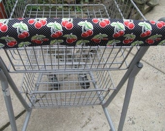 Shopping Cart Cover, Cart Handle Cover, Cart Cover, Shopping Cart Covers, Black Cherry Print Cart Cover, Shopping,  Handy Cart Cover