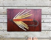 Fly Fishing String Art - String & Nail - Bozeman Montana