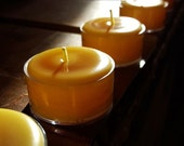 10 (plus) 1 FREE -  Pure 100 % Beeswax Tea Lights - Handmade by Pollen Arts