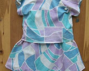 NOS Two Piece Purple And Blue