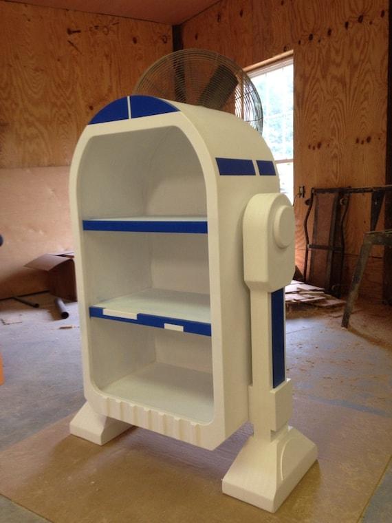 star wars r2d2 droid styled bookshelf storage unit. Black Bedroom Furniture Sets. Home Design Ideas