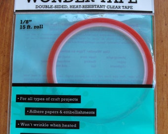 """Ranger Wonder Tape Double Sided, Heat Resistand Clear Tape 15 Ft. 1/8"""""""