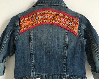 ooak customized denim jacket