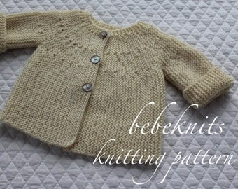 Modern Cardigan Knitting Patterns : Baby sweater pattern Etsy