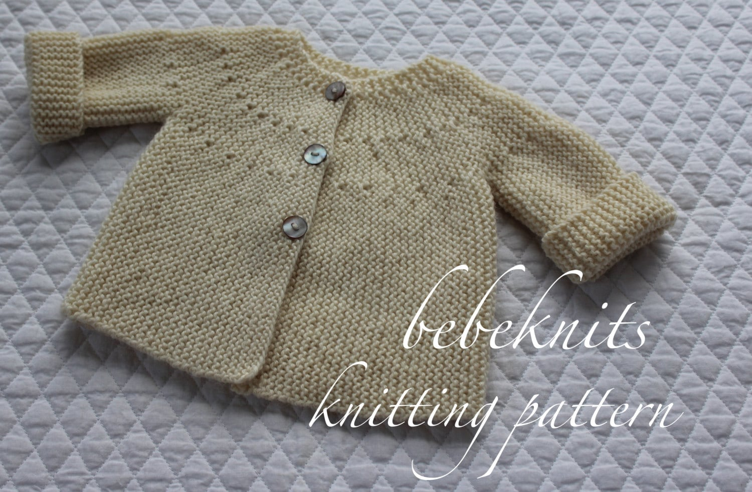 Modern Cardigan Knitting Patterns : Bebeknits Modern European Baby Cardigan Knitting Pattern