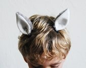 Ears to match slippers and claw gloves - clip on animal ears