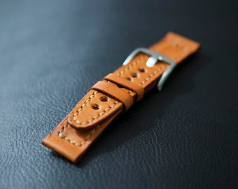 Full Grain Leather Watch Strap
