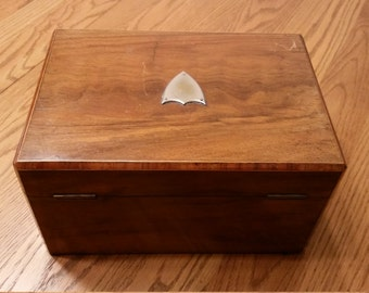 Antique Victorian Rosewood Sewing Box