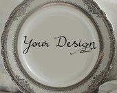 Customizable Plates, Silver/Platinum Dinnerware, Customizable Dishes, Personalized Plates, Personalized Dishes, Bespoke Plates Wedding