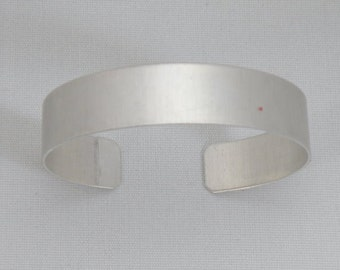 1/2 inch wide by six inches long, one dozen (12) Aluminum Cuff Bracelet Blanks,