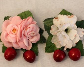 Cherry Corsage 2-way clip