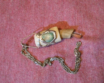 Antler quick knife necklace #14