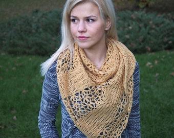 Crochet pattern woman shawl, triangle lace block shawl, diagonals shawl, women wrap,  DIY photo tutorial, PDF Instant download