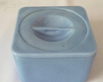 Jeannette Glass Delphite Blue Square Refrigerator Dish